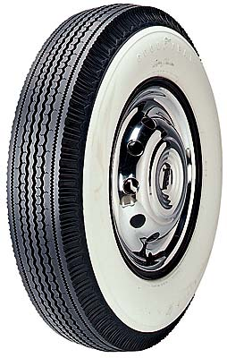 GOOD-YEAR 670/15 SUPER CUSHION 4 PLY POLY TUBELESS WHITEWALL