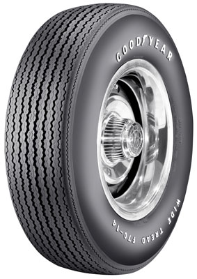 GOOD-YEAR F70-14 SPEEDWAY WIDE TREAD 4 PLY POLY RAISED WHITE LETTER