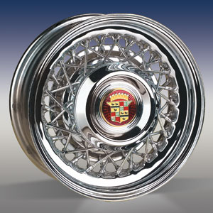 CADILLAC STYLE WIRE WHEEL IN CHROME