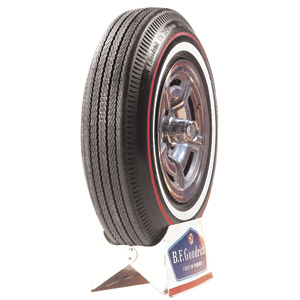 "815-15 BFG 1"" WHITEWALL + 3/8"" REDLINE TIRE"