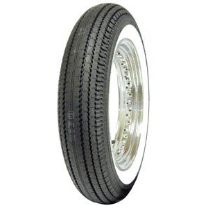 "500-16 S COKER CLASSIC CYCLE 2"" WHITEWALL TIRE"