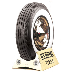 "710-15 U.S.ROYAL 2 3/4"" WHITEWALL"
