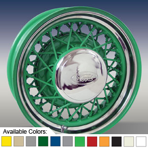 STREET ROD WIRE WHEELS - PAINTED
