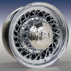STREET ROD WIRE WHEEL - CHROME