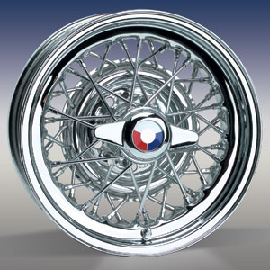 BUICK STYLE WIRE WHEEL IN CHROME OR STAINLESS