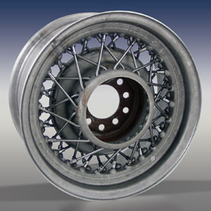 STREET ROD WIRE WHEEL - BARE